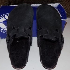 Birkenstock Boston suede/shearling fur EU37/US6